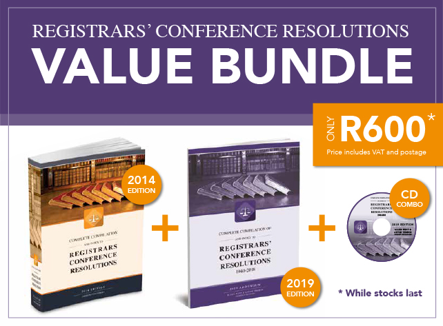 Registrars' Conference Resolution Value Bundle