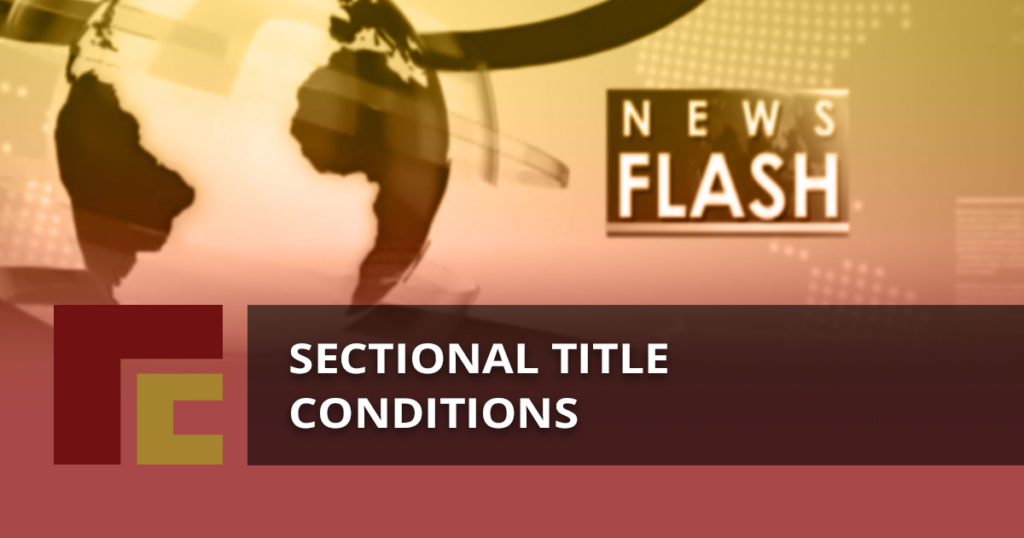 Sectional Title Conditions
