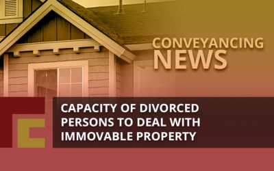 Capacity of divorced person to deal with immovable property