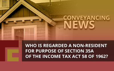 Who is regarded a Non-Resident for purpose of Section 35A of The Income Act 58 of 1962?