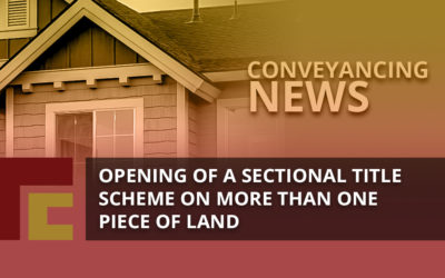 Opening of a Sectional Title Scheme on More Than One Piece of Land