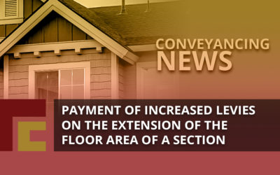 Payment of Increased Levies on the Extension of the Floor Area of a Section