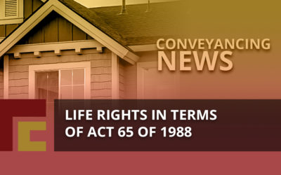 Life Rights in Terms of Act 65 of 1988